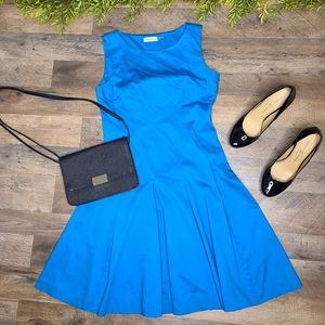 Calvin Klein • Bright Blue Fit & Flare Dress